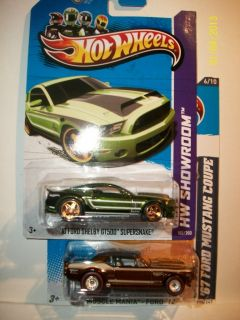 HOT WHEELS SUPER SECRET FORD SHELBY GT500 SUPERSNAKE & 67 MUSTANG