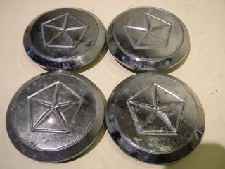 Chrysler Dodge Chrome Wire Wheel Cover Center Caps Hubcaps Set of 4