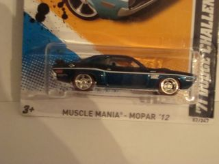 Hot Wheels 2012 Super Treasure Hunt 71 Dodge Challenger