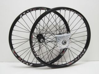 ENVY Double Wall BMX Racing Rims ACS Sealed Hubs 20X1 75 Black Wheels