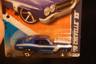 2011 Hot Wheels 70 Chevelle SS 454 Blue Muscle Car