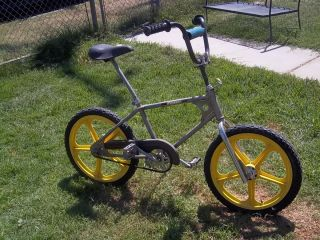 Pasher Old School BMX Bike 20 Yellow Skyway Wheels Vintage