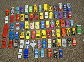Lot of 78 Vintage Hot Wheels & Matchbox Diecast Toy Cars   1970s and