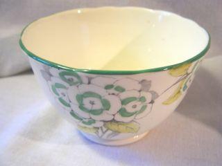 Vintage Foley Green White Fine Bone China Open Sugar Bowl Creamer Set