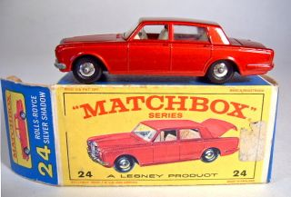 Matchbox RW 24c Rolls Royce Black Wheels Silver Hubcaps