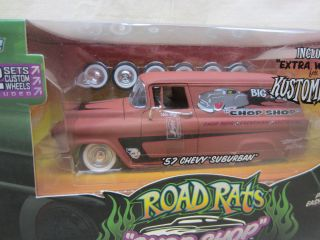 Primered 1957 Chevy Suburban Road Rats Extra Wheels 1 24 Scale