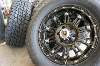 18 XD Hoss Gloss Black Wheels Rims 265 70R18 Nitto Terra Grappler at