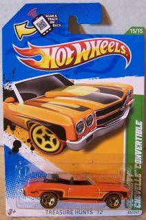 ctd Hot Wheels 2012 #065 70 Chevy Chevelle Conv. TREASUREHUNT/ORANGE