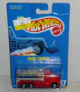 Hot Wheels 1991 blackwall Unocal 76 Gas Tank Truck Blue Card MOC 147