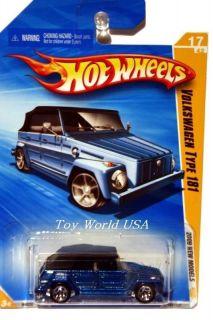 2009 Hot Wheels New Models 17 Volkswagen Type 181 Blue