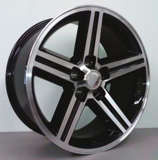 inch Wheels Rims Machined w Black 5 Lug Chevy Early Cars 5x4 75