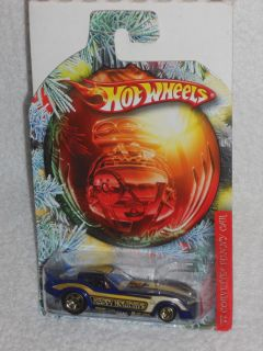 Hot Wheels 2010 Holiday Hot Rods Series 77 Corvette Funny Car Blue