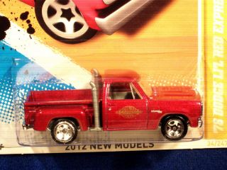 HOT WHEELS 2012 78 DODGE LIL RED EXPRESS PICKUP RED W GOLD LIL EXPRESS