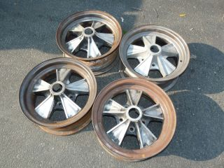 Vintage Hurst Wheels Rims Set of 4 GTO GM Ford Mopar Mustang GTX Road