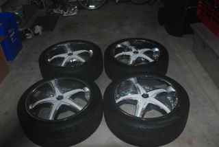22 Diablo Reflection x Rims with New Nankang Tires and White Inserts