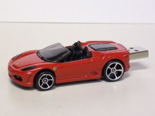 Ferrari F430 Spider Red Hot Wheels USB Flash Jump Drive 8GB