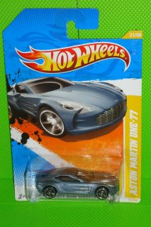 2011 Hot Wheels New Models 031 244 Aston Martin One 77 Metallic Gray