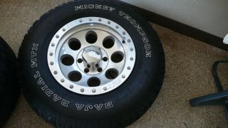 1500 Mickey Thompson Tires and 16 Rims LT265 75R16 M s Spare