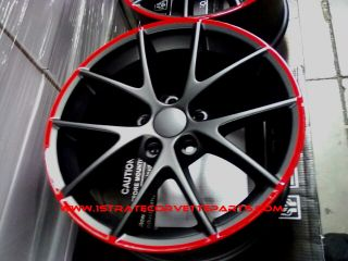Spdyer Style Corvette Wheels Red Lip Fits ZO6 Z06 Grand Sprt