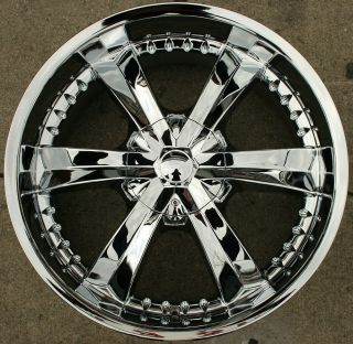 Cattivo 726 22 Chrome Rims Wheels GMC Yukon Denali XL 07 Up 22 x 9 5
