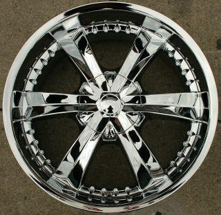 Cattivo 726 22 Chrome Rims Wheels GMC Yukon Denali XL 07 Up 22 x 9 5
