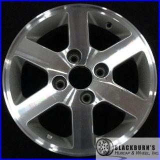 02 Honda Accord 4 Cyl 15 4 Lug Machined Silver Wheel Rim 63819