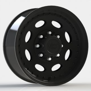 19 5 Vision 81 Black Wheels Tires Chevy GMC 2500 3500 8LUG 8x6 5