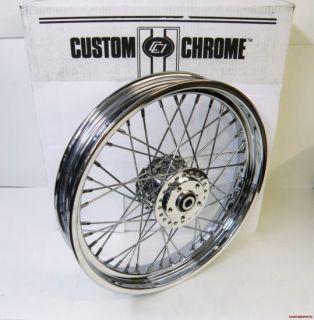 Custom Chrome Front Wheel Harley Sportster Dyna FX FXR 84 99