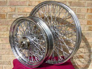 80 Twisted Spoke Chopper Custom Wheels for Harley Parts