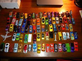 Lot of Over 85 Hot Wheels Matchbox Cars Trucks Etc