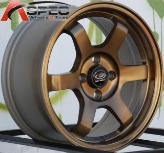 15x7 Rota Grid Wheels 4x100 Rims Fits 4 Lug Civic CRX Honda Fit XB