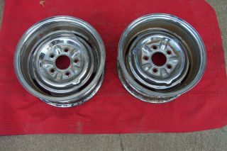 Chrome Reverse Wheels GM Rat Rod Gasser Old School