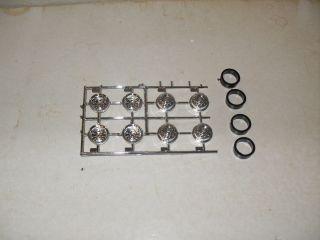 Revell Peterbilt Kenworth chrome drive wheels set of 8 w spacer rings