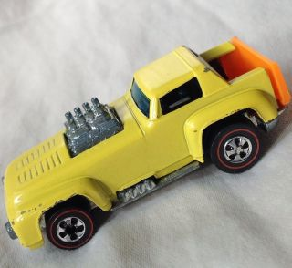 1970 hot wheels original REDLINE SHORT ORDER BEAUTIFUL ENAMEL YELLOW