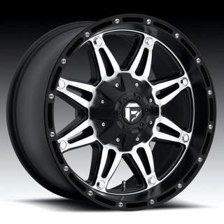 Fuel Hostage 17x9 Black Mach Wheels 8x6 5 Dodge GM Qty 4 Wheels