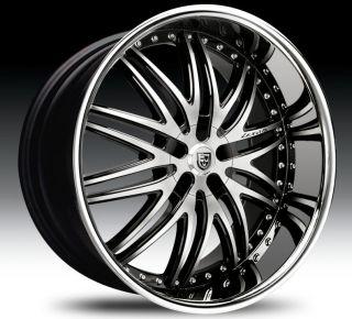 Lexani LX 10 24 Wheels Tires Black Chrome VW Phaeton Touareg Porche
