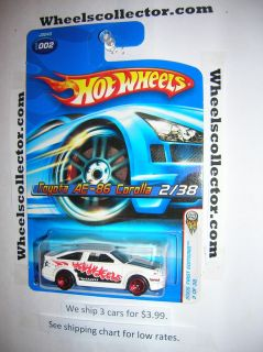 2006 Hot Wheels Toyota AE 86 Corolla 5 Spoke Red RARE