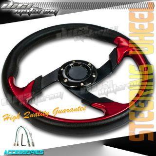 JDM Spec Black PVC Leather 320mm T260 Racing Steering Wheel Race Drift