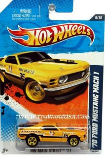 2011 Hot Wheels HW Main Street 169 70 Ford Mustang Mach 1 Yellow