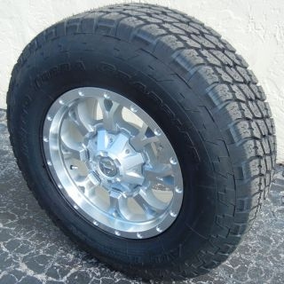 17 Silver Fuel Krank Wheels Nitto Terra Grappler Tires Ford F250 F350