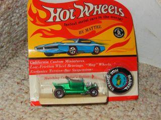 Old Hot Wheels Red Line Hot Heap Diecast Car Mint Blister Pack Mattel