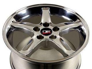 17 Rear Pair Polished Cobra Wheels 17x10 5 Rims Fit Mustang® 94 04
