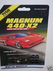 Slot Car Tune Up Pit Kit TYCO Magnum 440 X2 36669 by Mattel Wheels New