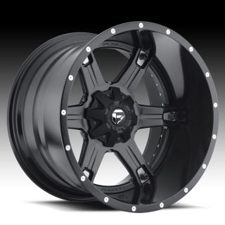Driller 2pc Wheel Set Black 22x12 Rims Ford Chevy Dodge Wheels