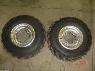 99 00 01 02 03 05 Honda Fourtrax 400EX TRX400EX Front Wheel Rims Tires