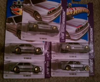 2013 Hot Wheels 92 BMW M3 E30 Silver Lot X5 $$