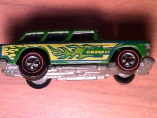 Vintage Hot Wheels Redline Alive 55 Chevrolet Station Wagon 1969