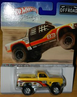Hot Wheels Racing 83 Chevy Silverado 4x4 2012 Off Road