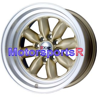 16x8 XXR 513 Gold Wheels Rims Staggered 4x114 3 95 98 Nissan 240sx S14