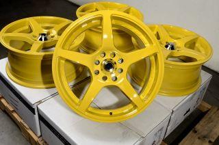16 Yellow Effect Wheels Rims 4x108 Ford Contour Escort Fiesta Focus